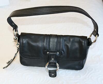 New w Tags KIPLING black leather shoulder bag w dustbag ref cg