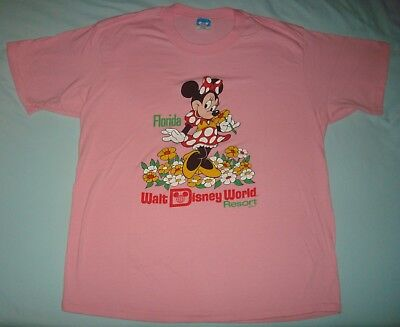 80s VTG MINNIE MOUSE T SHIRT MENS XL DISNEY CHARACTER FASHIONS SOFT THIN PINK