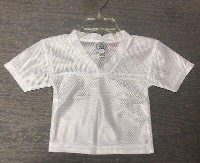 Blank Spirit Jersey (3T Unisex Blank White Halloween Costume Dress Up Football Spirit Jersey NWT)