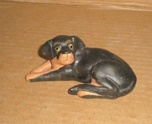 Rottweiler pup figurine