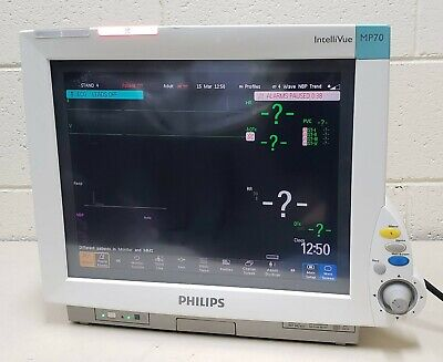 Philips Model M8007a Intellivue Mp70 Patient Monitor W M3001a Mms Module