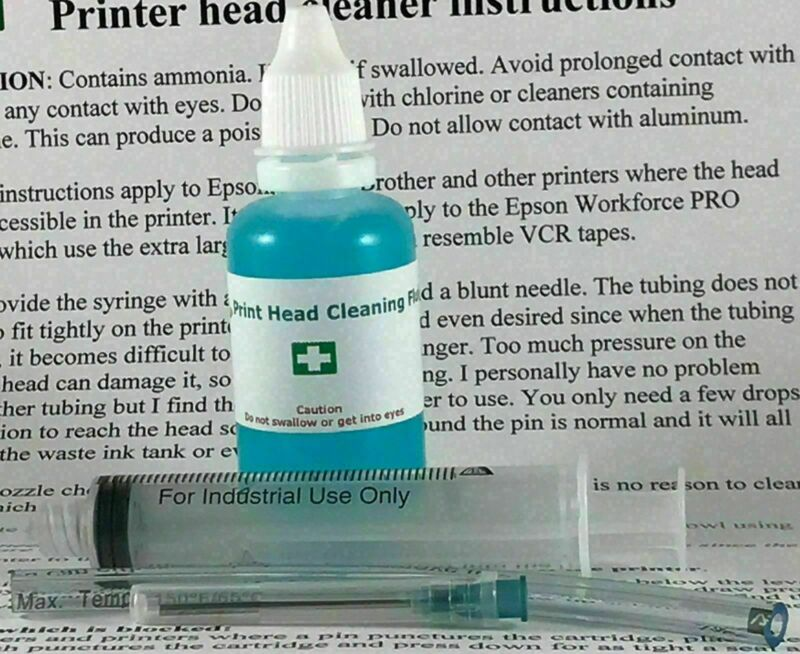 UNBLOCK EPSON PRINT HEAD NOZZLES PRINTER PRINTHEAD CLEANING KIT CLEANER FLUSH