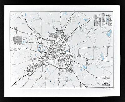 Texas Map - Palestine Town Plan - Anderson County - State Highway Department