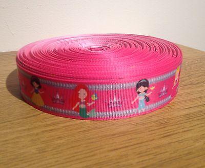 Patty Pink Ribbon - 1m PRINCESS HOT PINK RIBBON GROSGRAIN RIBBON 1