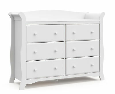 Storkcraft Avalon 6 Drawer Universal Dresser White
