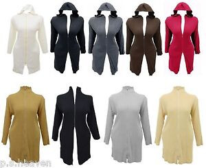 NEW-HOODED-TURTLE-NECK-CARDI-16-18-20-22-24-26-BLACK-BROWN-GREY-TAUPE-RED