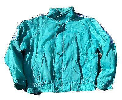 Vintage 90's Kappa Turquoise Windbreaker Track Jacket Size Medium