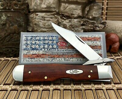 Case XX USA Awesome 2021 CHESTNUT Bone Stainless 28909 Cheetah Pocket Knife