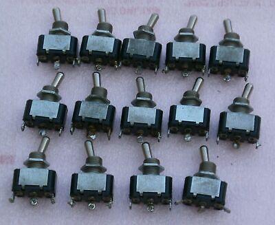 Vintage C-h Toggle Switch On-on Und Lab Inc Insp 10a 250v 15a 125v 34hp 250v Ac