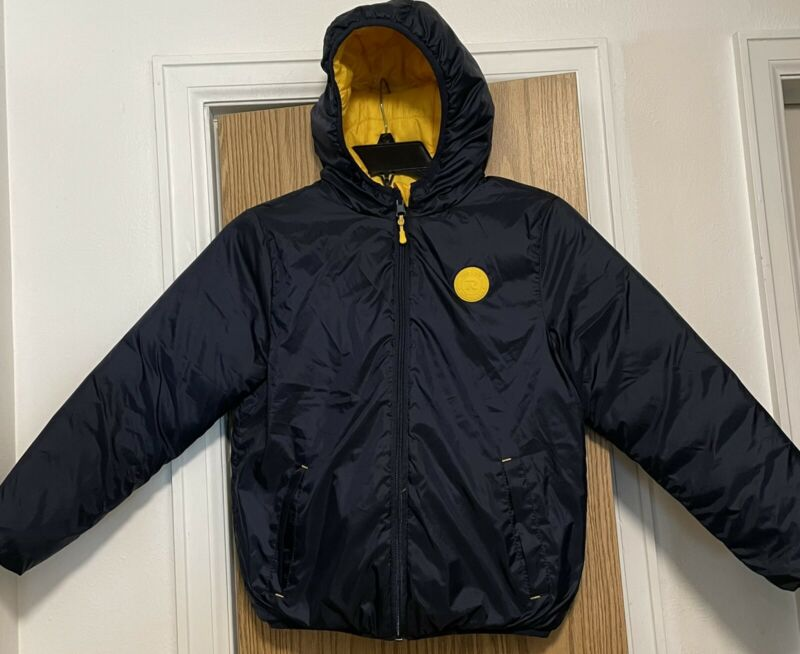 Rokka & Rolla boys reversible lightweight hooded puffer jacket size Med 6-9