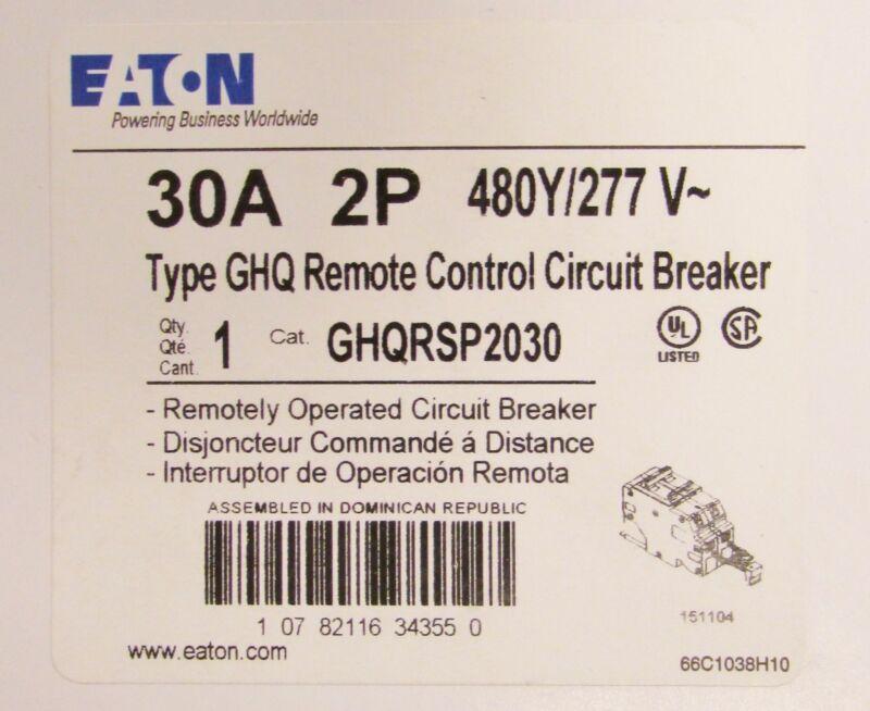 EATON CUTLER HAMMER GHQ Remote Control Circuit Breaker 2 Pole 30 Amp GHQRSP2030