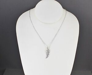 Silver angel wing necklace crystal small wing pendant necklace 16