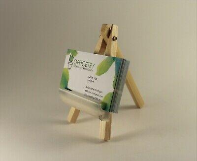 Business Card Holder For Deskwood Mini Easel. Business Card Stand