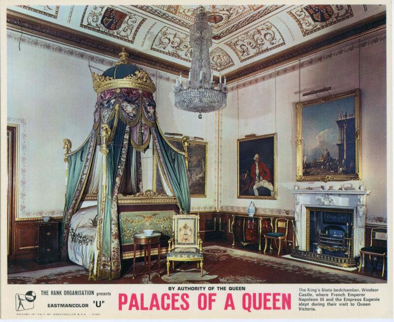 WINDSOR CASTLE BEDROOM original photo QUEEN ELIZABETH/KING