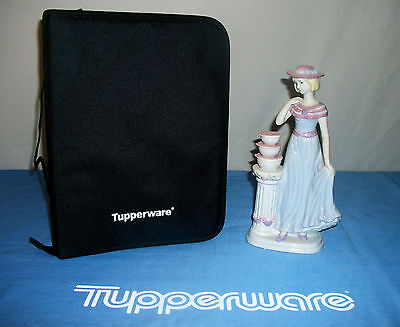 Tupperware BLACK Fabric NEW 3-ring Binder Padfolio ~Consulta