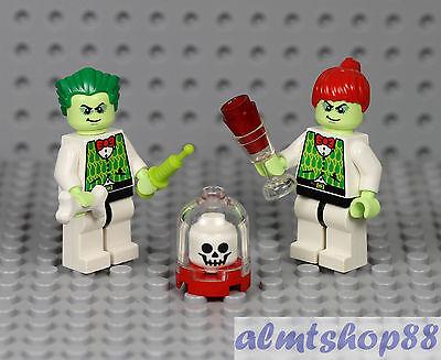 LEGO - Mr & Mrs Mad Scientist Minifigures - Halloween Female Vampire Zombie - Female Vampires Halloween