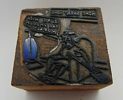 Vintage Printing Letterpress Printers Block Home Sweat Home