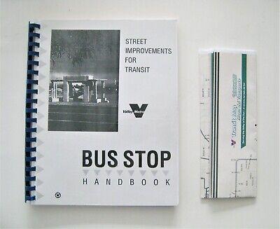 Lot of 2 Valley Metro Bus Items Bus Stop Handbook Transit Map Phoenix Arizona AZ Metro Transit Map