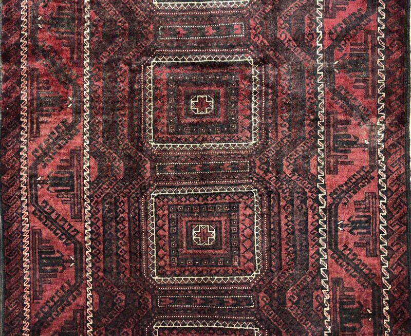 Tremendous Tribal - 1940s Antique Oriental Rug - Nomadic Carpet - 4.8 X 7.5 Ft