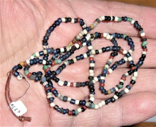 """28"""" STRAND DUTCH TRADE BEADS NEW YORK STATE 1656 FORT SITE"""