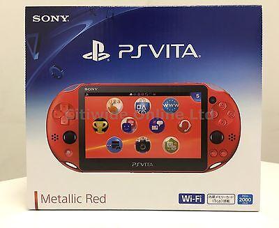 Sony Playstation Ps Vita Wi Fi Metallic Red Pch 2000Za26 Pch 2000 2016 L012