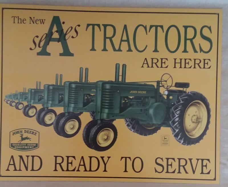 John Deere A-Series Tractors Metal Plate -holes in 4 corners for hanging - New