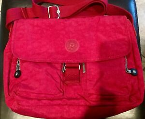 "Kipling Cross Body Purse (very berry colour) 12"" W x 10"" H"