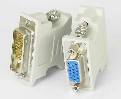 Male DVI-D DVI-I DVI-A to Female DB15 HD SVGA VGA D-sub 15 pin Connector 15 Pin D-sub Dvi D