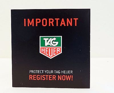 TAG HEUER WATCH REGISTRATION CARD BOOKLET