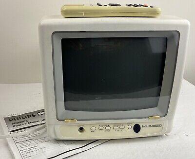 "Philips Magnavox 9"" CRT TV PR0920X101 Retro Gaming Small TV WORKS"
