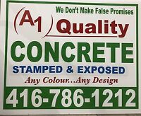 STAMPED & EXPOSED CONCRETE SERVICES