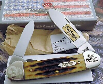 Case Kinfolks Canoe Knife 2016 From Family Brands Set Great Etch 1 Of 250! NR