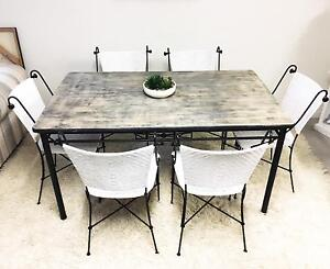 Gorgeous Timber Industrial Dining Setting Varsity Lakes Gold Coast South Preview