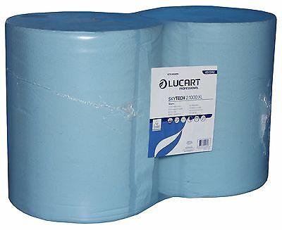 Putzrolle Industrierolle blau 36x36cm 2-lagig 2 Rollen á 1000 Blatt