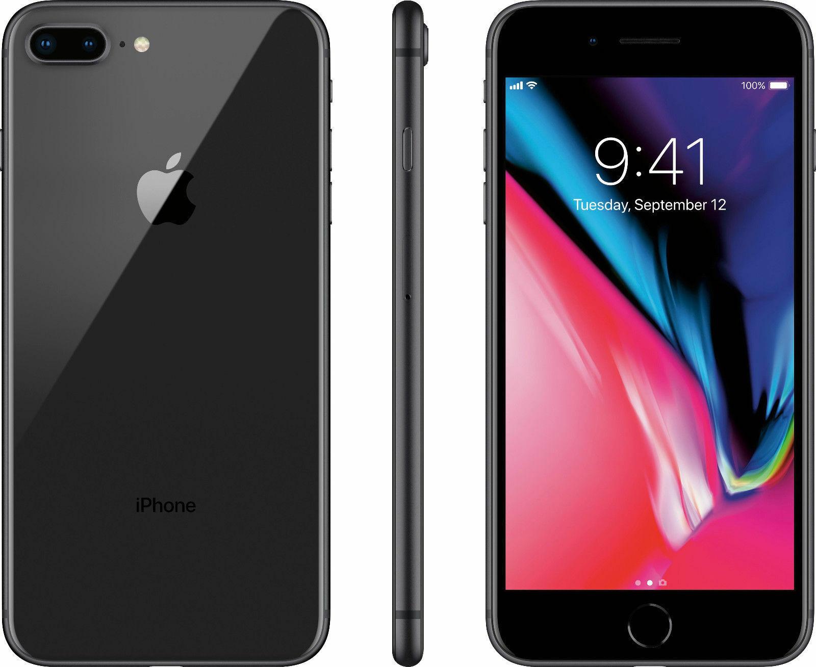 New Apple iPhone 8 Plus 64GB (GSM Unlocked) AT&T T-Mobile Metro PCS 4G LTE