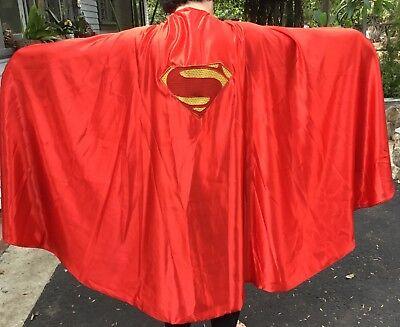Adult Satin Man Of Steel Red Superman Cape Halloween Costume Super - Superman Cape Adults