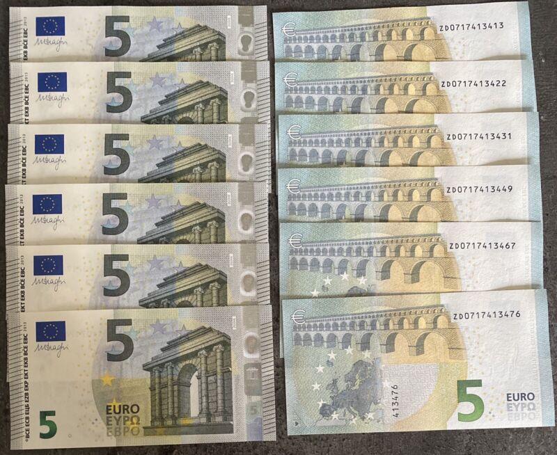 5 Euro Bill Europe Currency Money Banknote € 5 Five Euros Original UNCIRCULATED