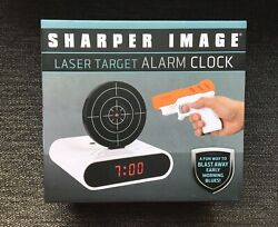 Sharper Image Laser Target Alarm Clock Brand NEW! Fun Gift Laser Tag Target