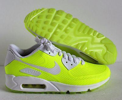 4a18ca5c1df5 Nike Women s Air max 90 Hyperfuse Premium iD Volt-White SZ 7  822578-901