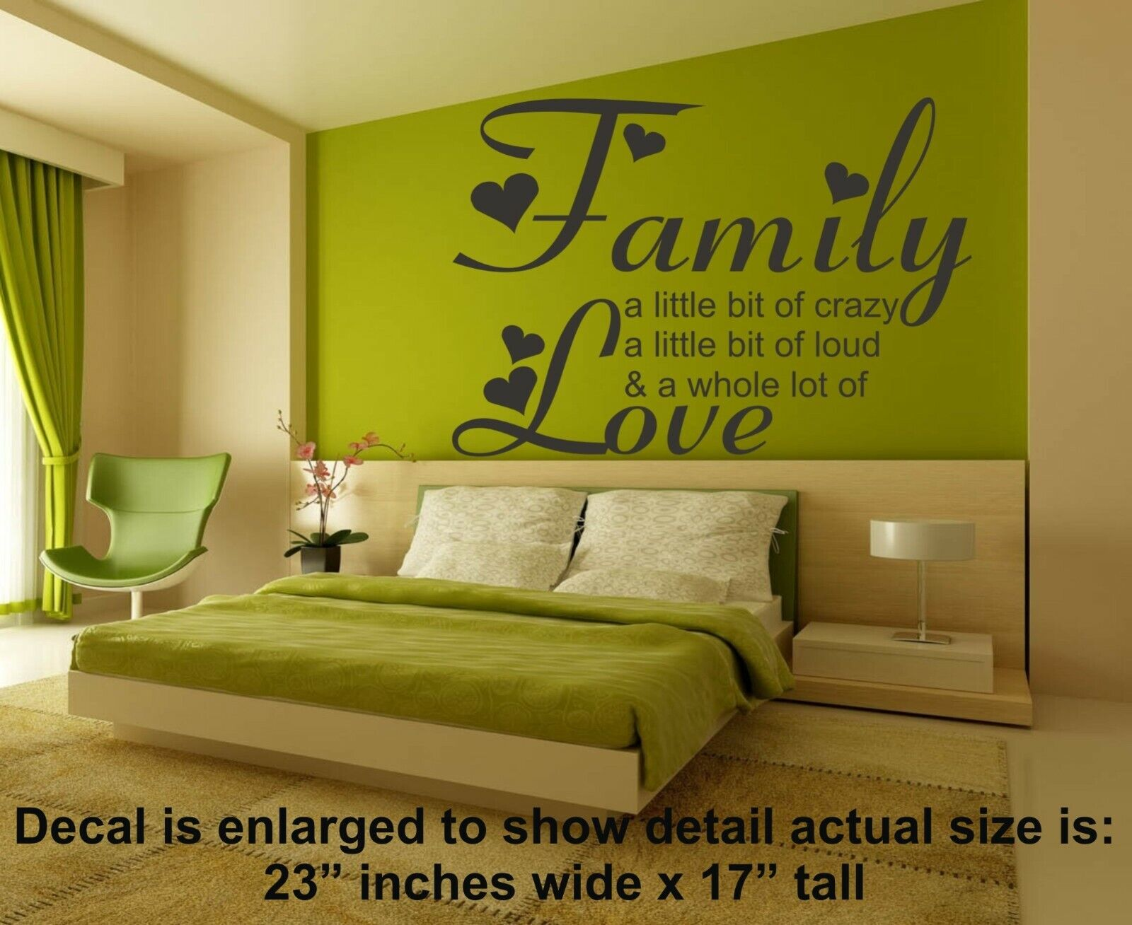 LOVE LAUGHTER /& HAPPILY EVER AFTER vinyl wall art sticker saying decor heart