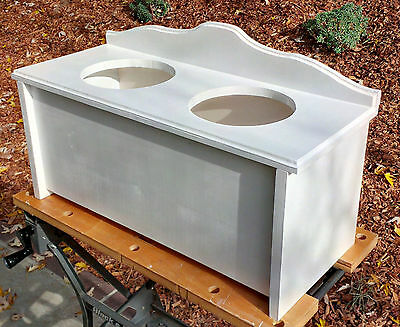 Plans to Build Your Elevated Dog Pet Feeder Feeding Stand - Digital Download