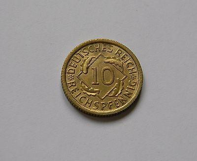 WEIMAR: 10 Reichspfennig 1925 E, J. 317, fast stempelglanz !!!