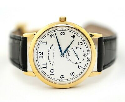 A. Lange & Sohne 1815 Sax-O-Mat  Automatik 303.021 18k Yellow Gold Mens Watch