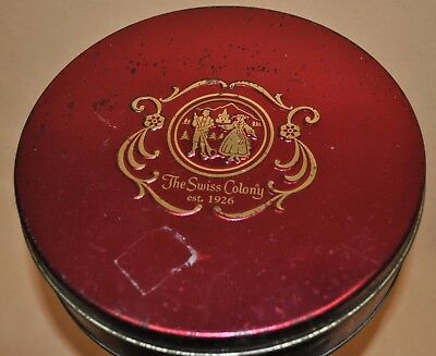 Metal Tin Can Container Christmas Gift Box and Lid The Swiss Colony Pecan Pac Lg ()