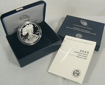 2020-W Silver Proof American Eagle 1 oz Coin READY TO SHIP with OGP/COA