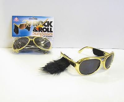 LOFTUS 6 Pair Of Gold Rock & Roll Sun Glasses With Sidebu...