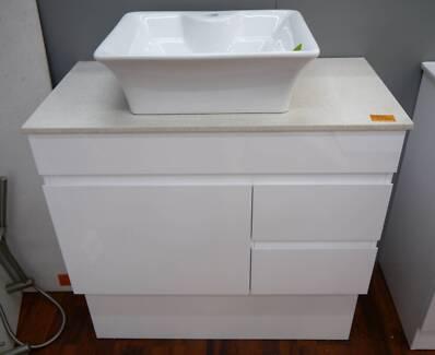 Ex Display Caboom Stone Top Bathroom Vanity Counter Basin Package