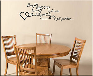 Adesivi murali frasi amore cucina decorazioni da parete for Scritte adesive cucina