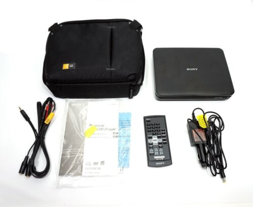 Sony DVP-FX730 portable dvd player with carry case