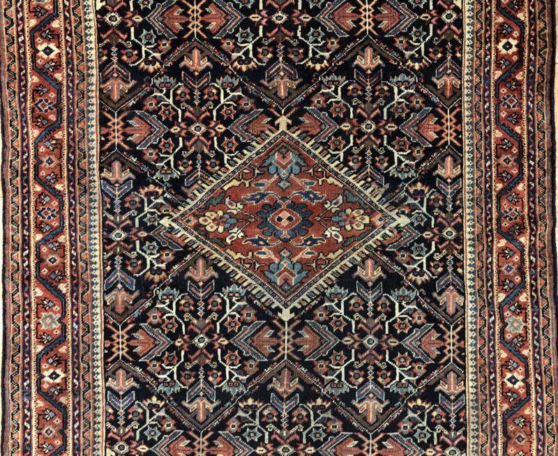 Tremendous Tribal - 1920s Antique Oriental Rug - Nomadic Carpet - 4.4 X 6.4 Ft